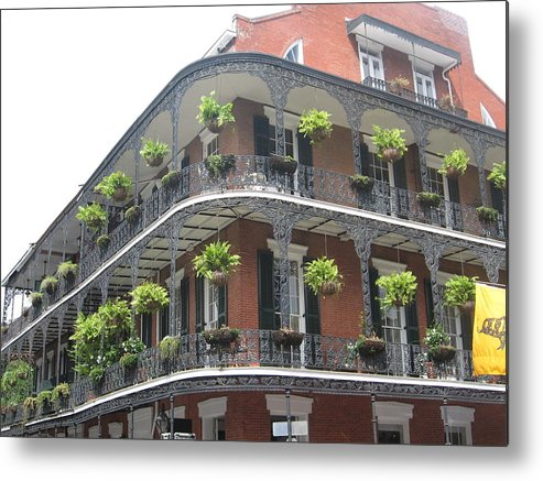 New Orleans Metal Print featuring the photograph Balcony In New Orleans by Mily Iriarte