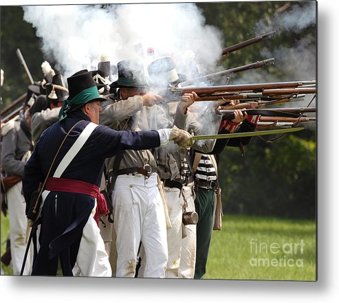 Siege Metal Print featuring the photograph Battle 32 by JT Lewis