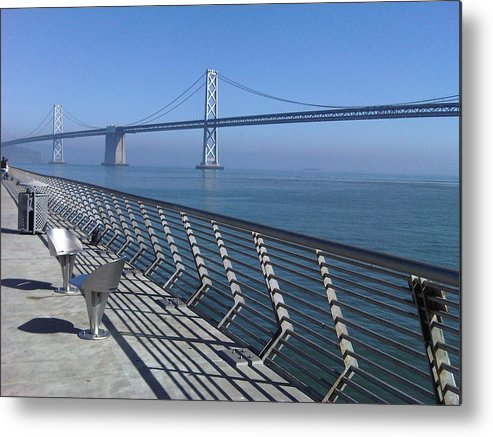 Bay Bridge Metal Print featuring the photograph Bay Bridge From New Pier by Nimmi Solomon