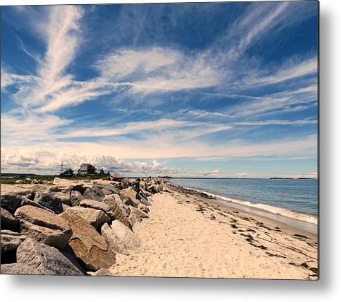 Beach Metal Print featuring the photograph Beautiful Sky by Janice Drew