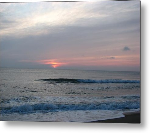 Beach Metal Print featuring the photograph Begin To Rise by April Camenisch