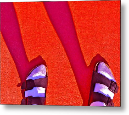 Silhouette Metal Print featuring the photograph Best Foot Forward by Randy Rosenberger