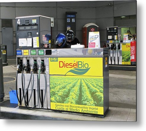 Fuel Metal Print featuring the photograph Biodiesel Fuel Pump by Ria Novosti