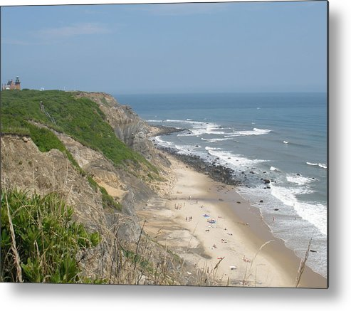 Landscape Metal Print featuring the photograph Block Island Bluffs by Tracy Fusco