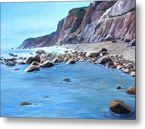 Block Island Metal Print featuring the painting Block Island Surf by Keith Wilkie
