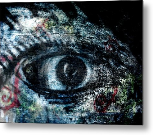 Street Art Metal Print featuring the photograph Blue Eye by Brandon Wunder