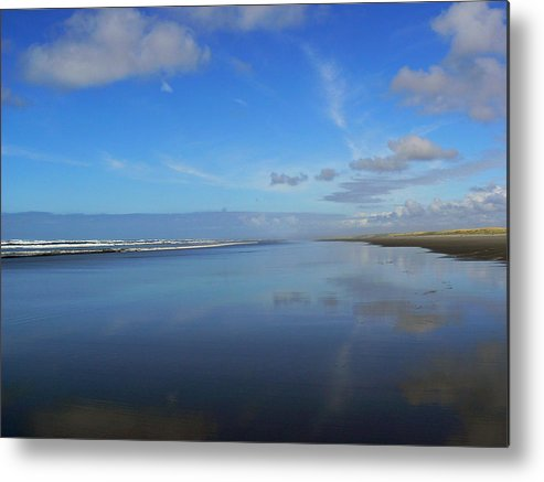 Blue Metal Print featuring the photograph Blue On Blue by Pamela Patch