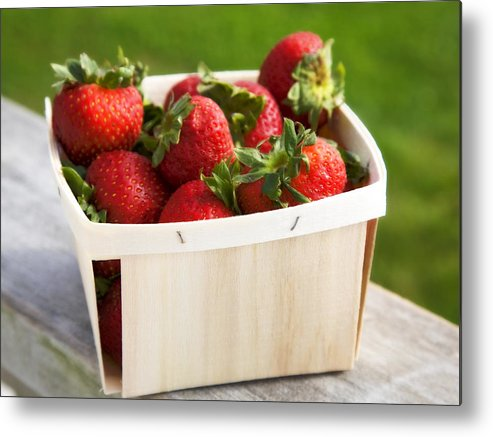 Strawberries Metal Print featuring the photograph Box Of Strawberries by Federico Arce