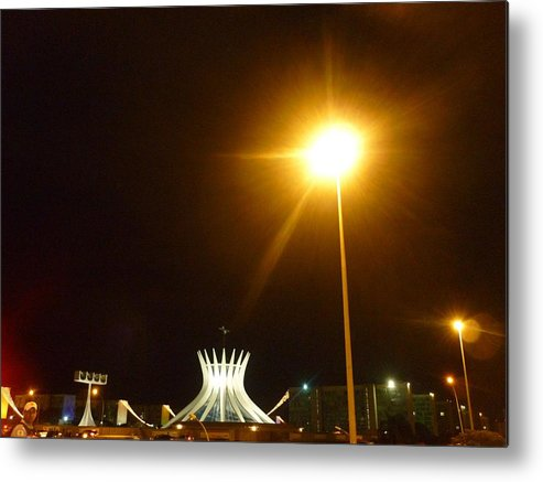 City Metal Print featuring the photograph Brasilia At Night by Beto Machado