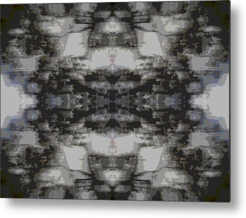 Abstract Landscape Metal Print featuring the photograph Breaking Up by Danny Lally