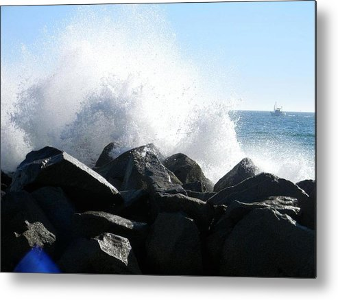Ocean Metal Print featuring the photograph Breaking Waves by Eric Barich