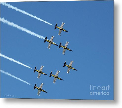 Breitling Metal Print featuring the photograph Breitling In The Air by Arik Baltinester