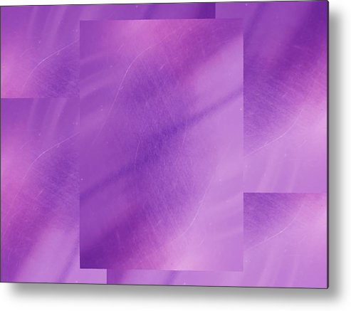 Abstract Metal Print featuring the digital art Brushed Purple Violet 1 by Tim Allen