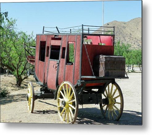 Stage Metal Print featuring the photograph Bygone Transportation by Wayne Toutaint