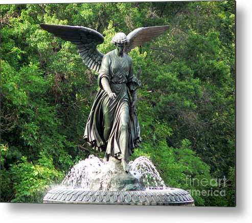Angel Metal Print featuring the photograph Central Park Angel by Elizabeth Fontaine-Barr