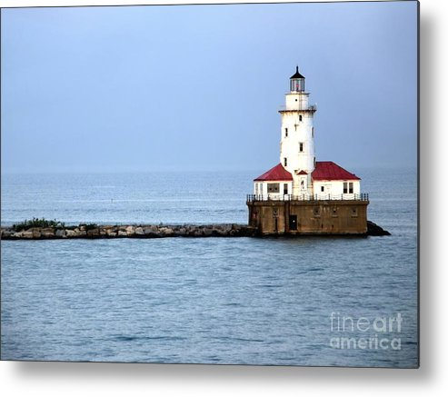 Chicago Metal Print featuring the photograph Chicago Lighthouse by Sophie Vigneault
