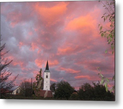 Metal Print featuring the photograph Church by Casper WithLove