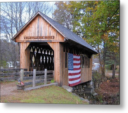 Nh Metal Print featuring the photograph Cilleyville Covered Bridge by Wayne Toutaint