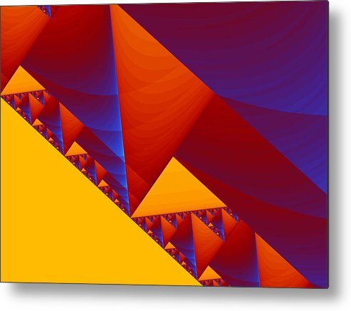 Abstract Design Metal Print featuring the digital art City On A Hill by Georgiana Romanovna
