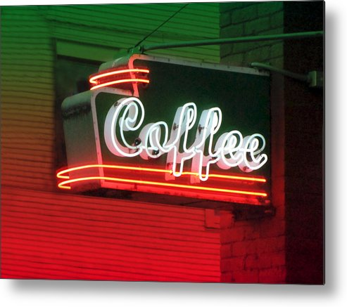 Coffee Metal Print featuring the photograph Coffee by Kathleen Grace
