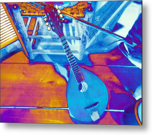 Mandolin Metal Print featuring the photograph Color With Mandolin  by Regina McLeroy