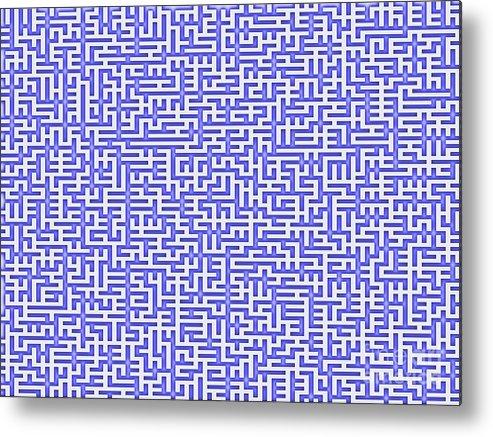 Labyrinth Metal Print featuring the digital art Complex Maze by Yali Shi