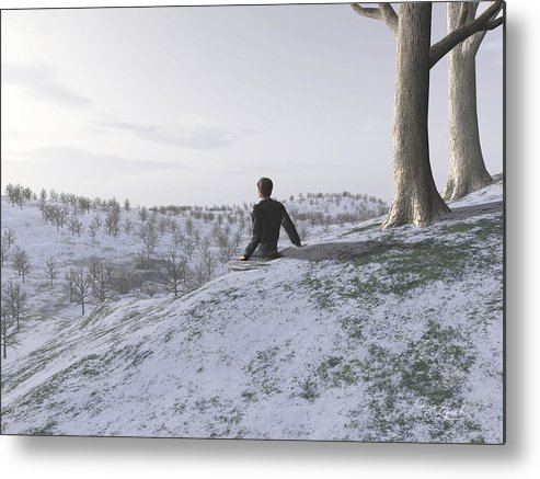 Nature Metal Print featuring the digital art Contemplation by Christopher Lynch