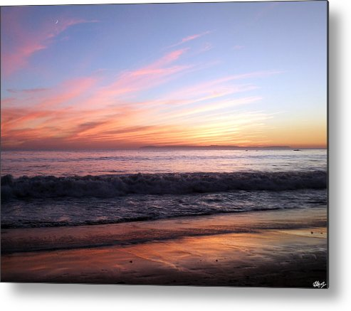 Crescent Moon Metal Print featuring the photograph Crescent by Laura Hol Art
