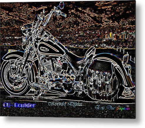 Cu Boulder Metal Print featuring the photograph Cu Boulder Colorado Nights by Eric Dee