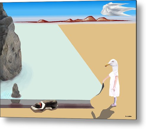 Dali Metal Print featuring the photograph Dalian Composition Number 1 by Roland LaVallee