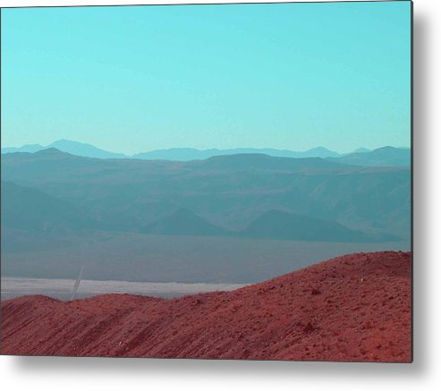 Nature Metal Print featuring the photograph Death Valley View 2 by Naxart Studio