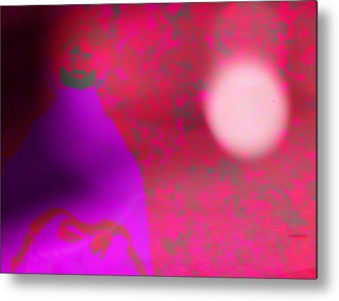 Abstract Metal Print featuring the photograph Disguise Of The Wise In Foreign Territory by Lenore Senior