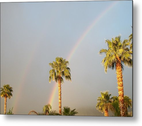 Botanical Metal Print featuring the photograph Double Rainbow by Russ Bertlow