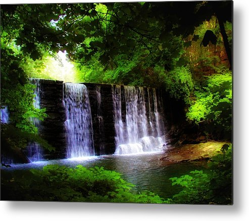 Dove Lake Falls Metal Print featuring the photograph Dove Lake Falls by Bill Cannon