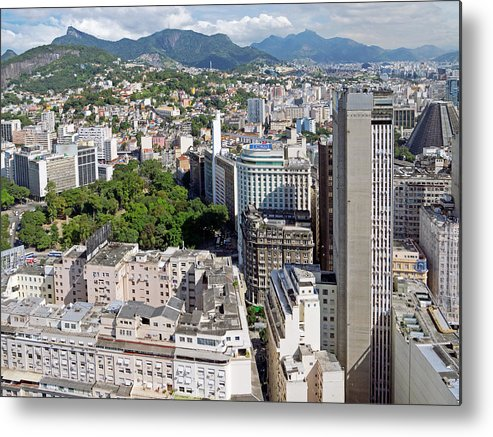 Horizontal Metal Print featuring the photograph Downtown And Surroundings by Photo by Leonardo Martins