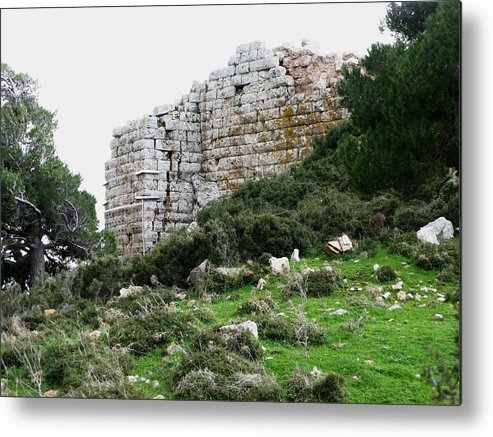 Phyle Fortress Metal Print featuring the photograph East Walls by Andonis Katanos