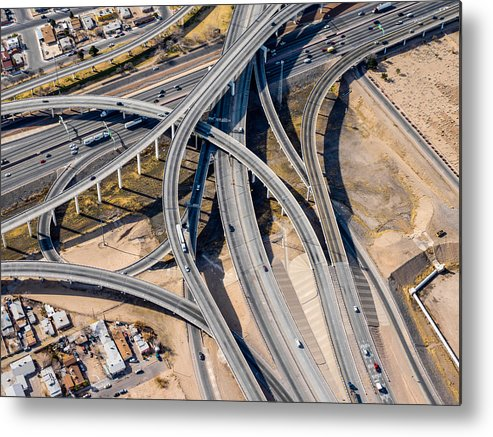Horizontal Metal Print featuring the photograph Elevated Road by Mark A Paulda