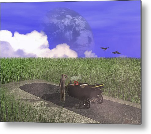 Nature Metal Print featuring the digital art End Of The Road by Christopher Lynch