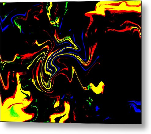 Abstract Photography Metal Print featuring the photograph Enyo by Danny Lally