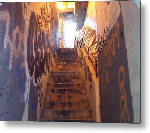 Graffiti Metal Print featuring the photograph Escape From Hell by Nimmi Solomon