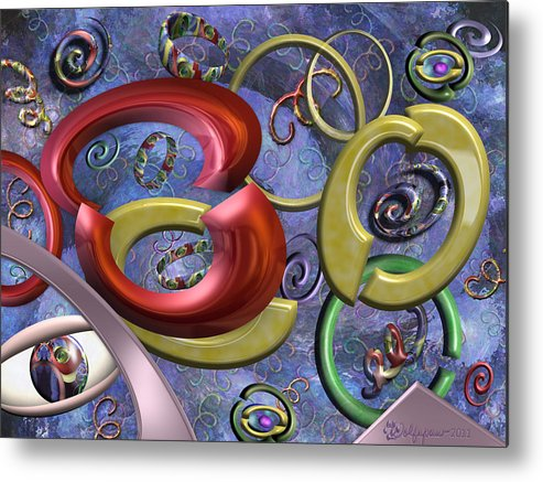Abstract Metal Print featuring the digital art Eye Of The Beholder by Peggi Wolfe