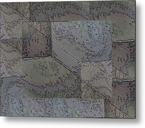 Abstract Metal Print featuring the photograph Facade 2 by Tim Allen