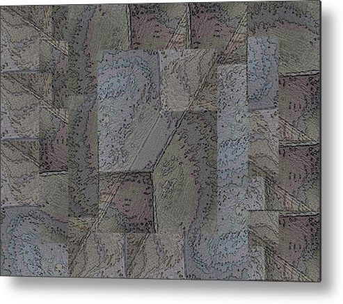 Abstract Metal Print featuring the digital art Facade 3 by Tim Allen