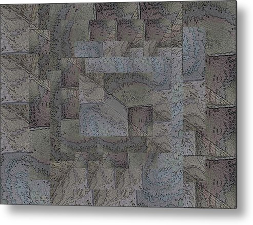 Abstract Metal Print featuring the digital art Facade 4 by Tim Allen