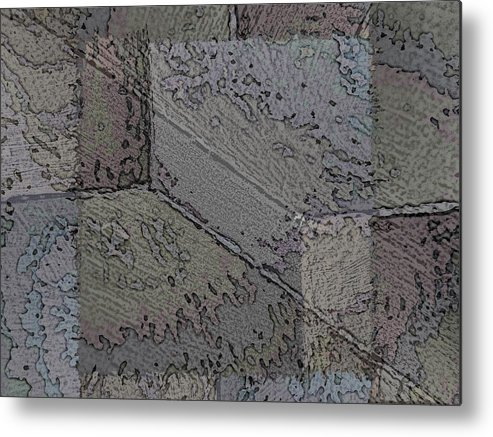 Abstract Metal Print featuring the digital art Facade 7 by Tim Allen
