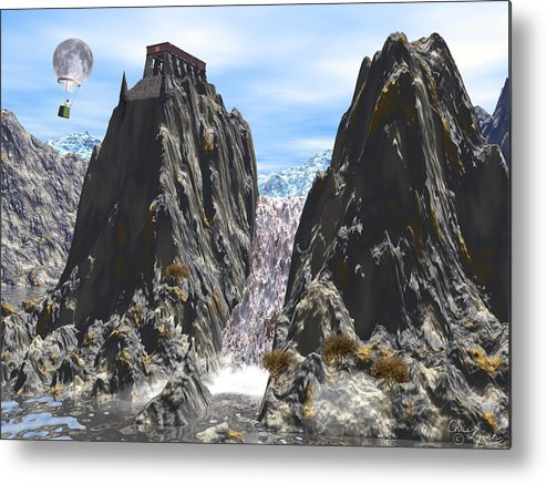 Water Metal Print featuring the digital art Falls by Christopher Lynch