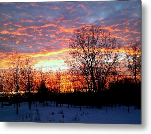 Love Metal Print featuring the photograph Fire On Ice by Zane Chowdhery