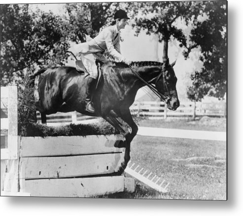 History Metal Print featuring the photograph First Lady Jacqueline Kennedy, Riding by Everett