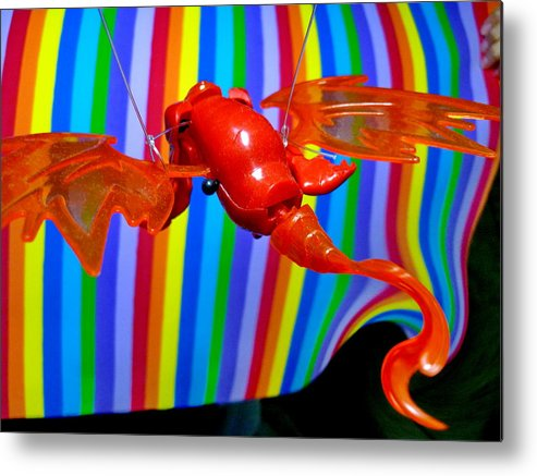 Sculpture Metal Print featuring the photograph Fly With Me by Beto Machado
