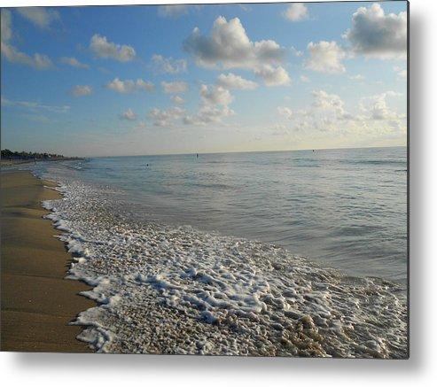 Sunrise Metal Print featuring the photograph Foamy Seas by Sheila Silverstein